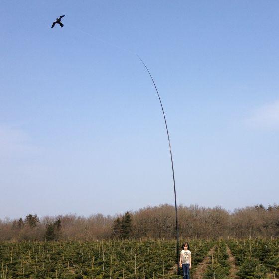 Hawk Bird Scarer with 10 meter Telescopic pole 17m/s
