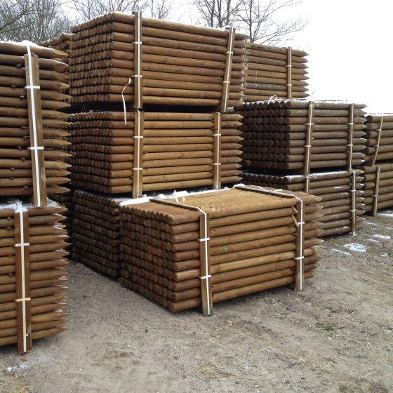 Fence posts, pressure treated pine