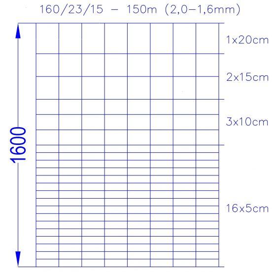 Wildlife Fence / Field Fence, 160/23/15-150m
