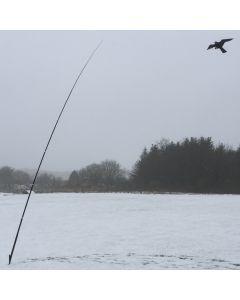 Hawk bird scarer with 7 meter telescopic pole, 22 m/s wind.