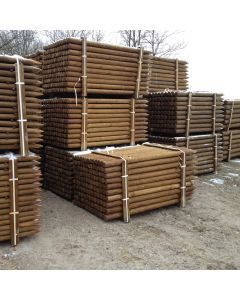 Fence posts, pressure treated pine