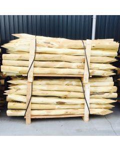 Acacia poles stakes debarked pointed