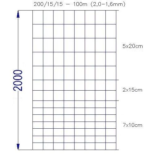 Wildlife Fence / Field Fence, 200/15/15-100m
